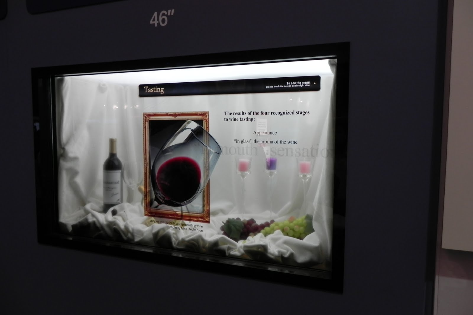 Samsung transparent LCD 46 inch