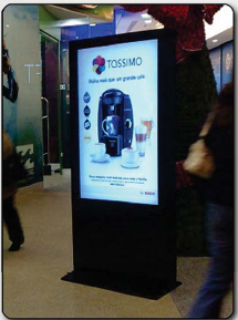 Freestanding Digital Posters Crystal Display Systems