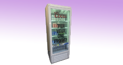 icevue transparent fridge