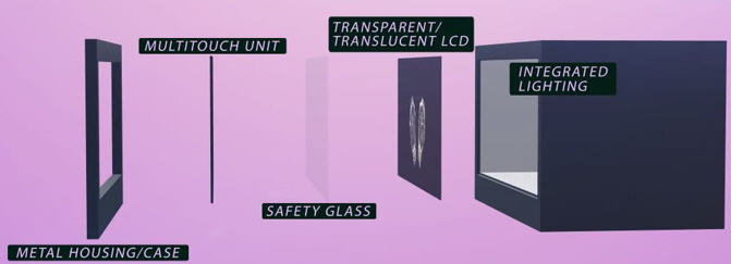 How are CDS Transparent Showcases constructed?