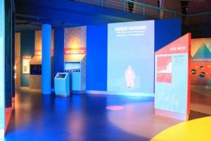 Interactive Translucent Aquarium Display in Singapore