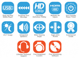 slimline freestanding icons