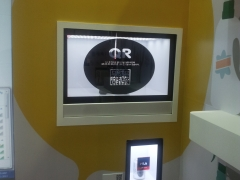 Astii 23 inch and 10 inch Transparent displays at Exhibition