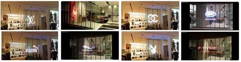 Transparent LED (TGLASS) displays
