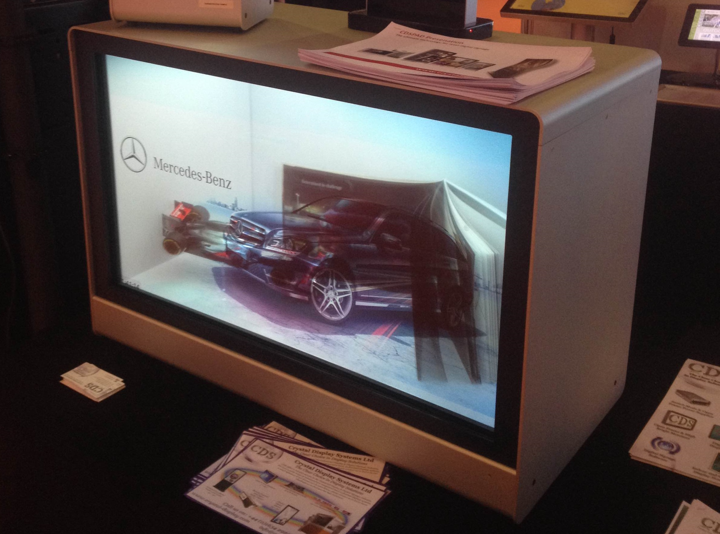 CDS Launches NEW Range of Touch Interactive Transparent Display Showcases
