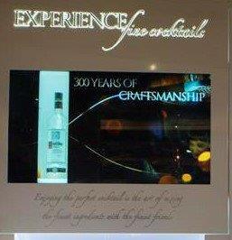 Smirnoff drinks transparent showcase small
