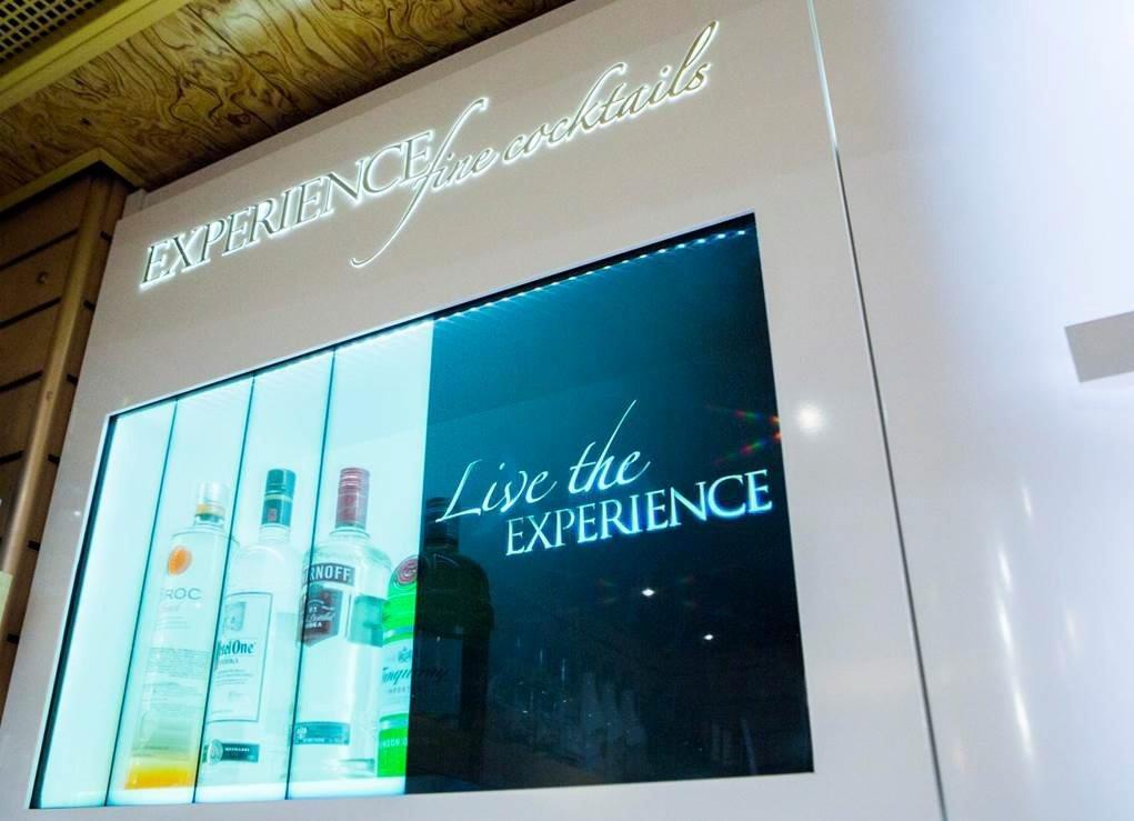 Smirnoff Shows off with Translucent Displays