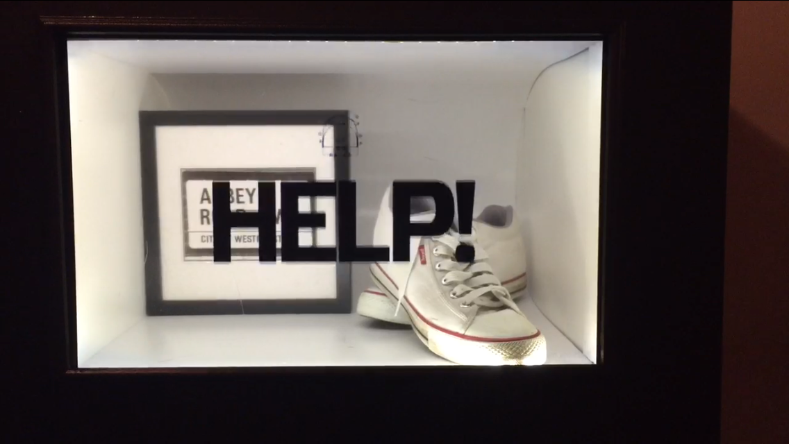 """HELP!"" – Even The Beatles Need a Transparent Display"