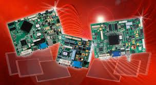 CDS Interface cards on red background