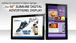 New Upgraded 46″ Slimline Digital Advertising Displays