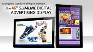 New Upgraded 46″ Slimline Digital Advertising Displays