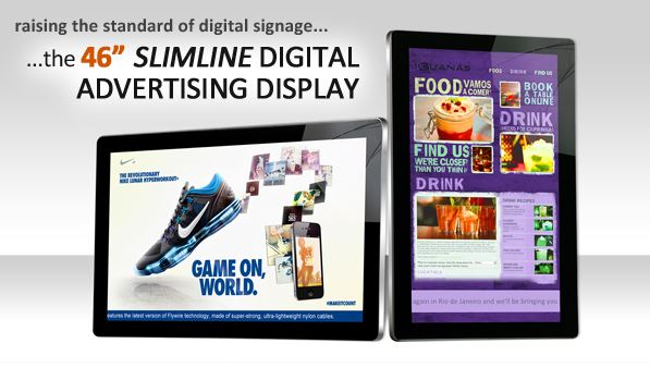 46 inch slimline digital display