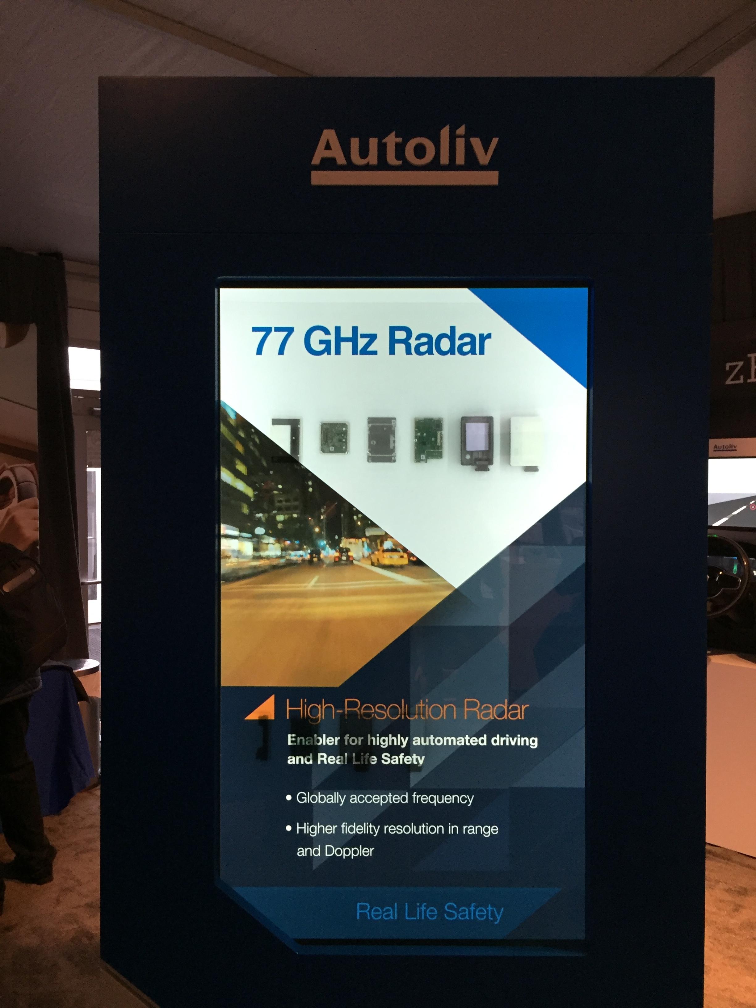 Autoliv transparent display