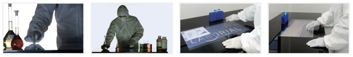 lab science displax applications displax Sense (Metal Mesh) MultiTouch on Glass