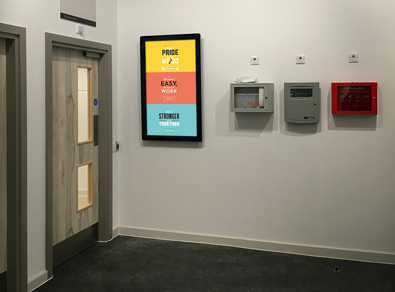 Another use of Digital Signage – Internal Communication