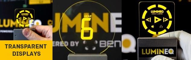 beneq lumineq transparent displays EL electroluminecent Display