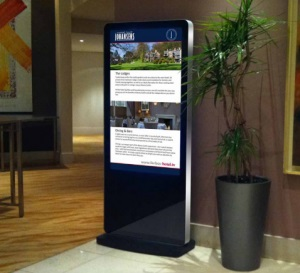 Features of the Networked Freestanding Advertising Displays