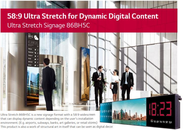 Amazing LG 86 Inch Ultra Wide Stretched Display