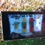volvic transparent display