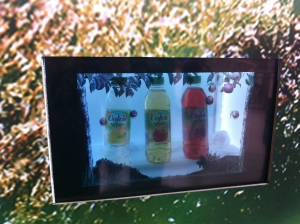Volvic Impress all with Transparent Display at Bluewater
