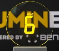 ELT 24S-Round beneq lumineq transparent displays EL electroluminecent Display