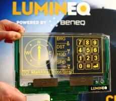 ELT 256.120.90 beneq lumineq transparent displays EL electroluminecent Display
