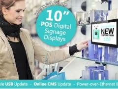 New 10inch POS Digital Signage Displays
