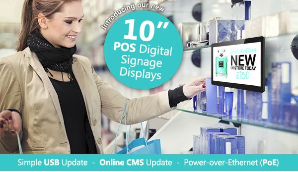 Shelf Edge 10inch POS Digital Signage Displays