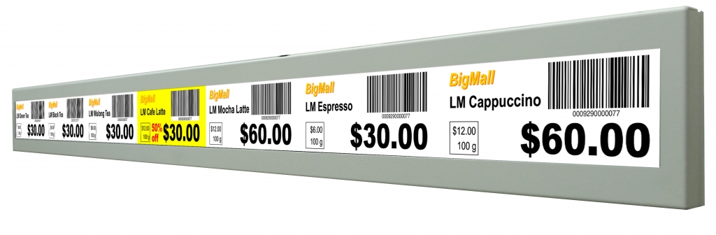stretched POS display Digital Shelf Edge