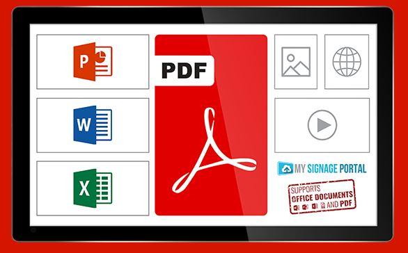 PDF displays