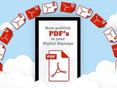 PDF to digital signage