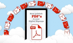 NEW Feature – PDF Documents on your Digital Signage