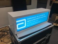37 inch custom stretched transparent showcase1