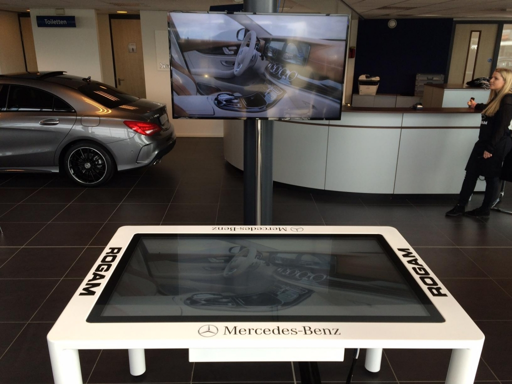 mercedes touch table