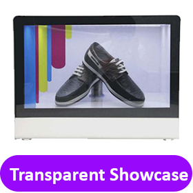 transparent showcase
