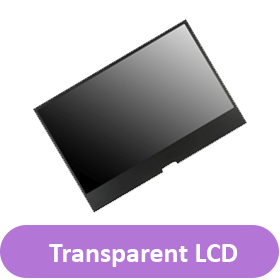 transparent lcd button