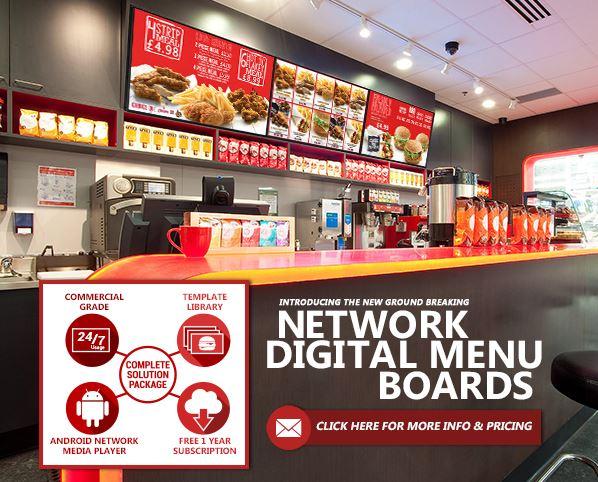 The Revolutionary Network Digital Menu Boards