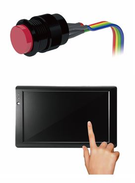 touch display with button function