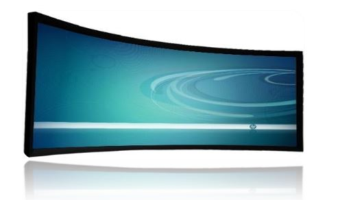 42 inch curved display