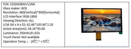 CDS043BWV11NN 4.3 inch TFT