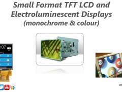 small format TFT LCDs and TFEL displays