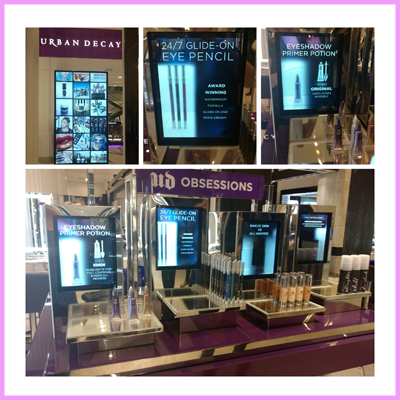 Urban Decay are made up with Transparent Displays