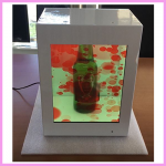 Heineken 27 inch Portrait Transparent Showcase Example