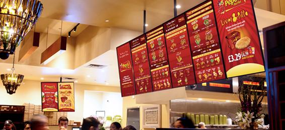 CDS led android digital menu boards