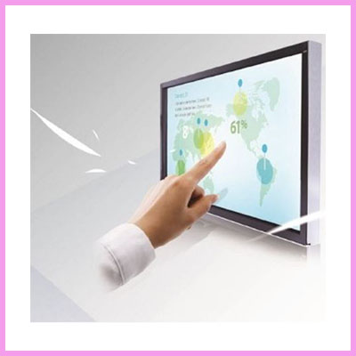 cds touch monitor with hand