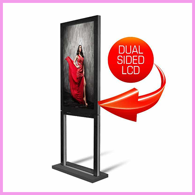 Double Sided Window Advertising Display
