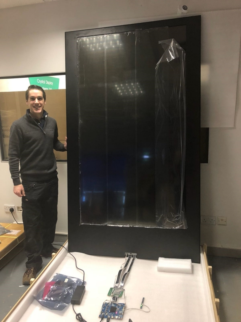 84 inch transparent lcd