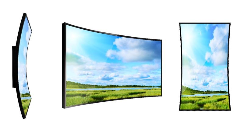 curved 43 inch display