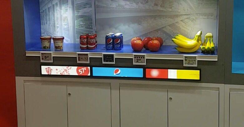 shelf edge displays in action