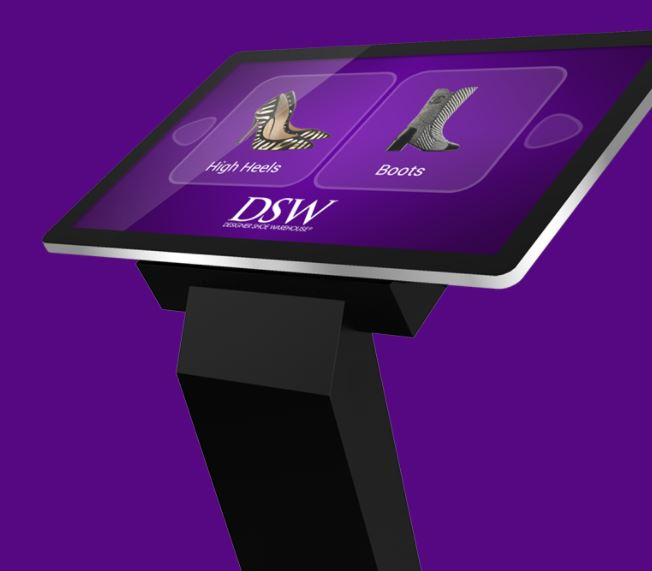 CDS PCAP touch kiosk purple